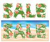 Summer tropical sale banners | Stock Illustration