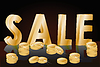 Sale word from three-dimensional letters