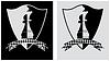 Schach-Wappen mit Bauer und der Königin.