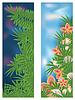 Два тропических баннеры