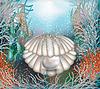 Векторный клипарт: Подводные корпуса карты с жемчужиной