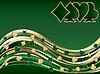 Векторный клипарт: Покер зеленый золотой баннер