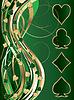 Зеленый золотой баннер покер