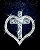 Алмазный крест и сердце.