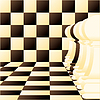 Vector clipart: Abstract background with Individual chess pawn
