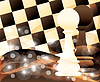 Abstract background with two chess pawn