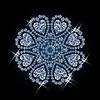 Vector clipart: Diamond flower with hearts,