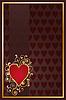 Vector clipart: Poker hearts card