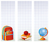 Set of school banners