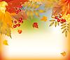 Векторный клипарт: Красивый фон Осень