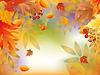 Векторный клипарт: Осенью карта с листьями клена. векторной иллюстрации