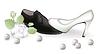 Векторный клипарт: Свадебная обувь и розы. векторной иллюстрации