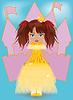 Векторный клипарт: Симпатичная маленькая принцесса
