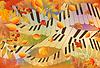 Векторный клипарт: Музыкальный баннер осенью. векторной иллюстрации