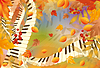 Musical autumn card | Stock Vector Graphics