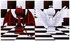Two pawns. illustration