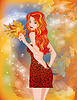 Autumn girl | Stock Vector Graphics