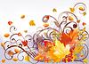 Vector clipart: Autumn card