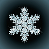 Diamond snowflake | Stock Vector Graphics