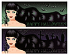 Vector clipart: Two halloween banners with sexy witch,