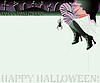 Vector clipart: Happy halloween magic background