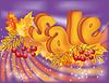 Vector clipart: Autumn sale , illustration