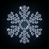 Vector clipart: Diamond snowflake card