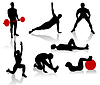 Vector clipart: Exercise