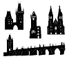 Vector clipart: Silhouette of Prague