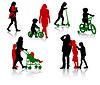 Vector clipart: Family