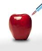 ID 3314597   Jabłko GMO. Apple i strzykawki   Foto stockowe wysokiej rozdzielczości   KLIPARTO