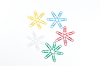 Photo 300 DPI: paperclip`s in shape of snowflakes