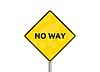No way - sign | Stock Foto