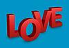 Liebe Text auf blauem Hintergrund | Stock Illustration