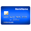 Blue credit card | Stock Illustration