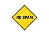 Photo 300 DPI: yellow spam sign
