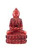 있는 Budha 앞의 붉은 동상 | Stock Foto