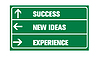 Success ,new ideas, experience or road sign | Stock Illustration