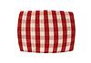 빨간 격자 무늬 베개   Stock Foto