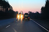 Photo 300 DPI: moving towards truck with lights on