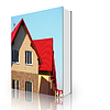 Book house with roof made of tiles | Stock Illustration