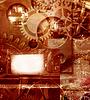 抽象的工业工程背景   光栅插图