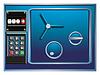 全钢保险柜和新的一年的数字计数器 | 光栅插图