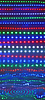 Abstrakcyjne światła disco odbicie w wodzie, dyskoteka | Stock Illustration