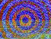 Runda mozaika streszczenie odbicie w wodzie | Stock Illustration