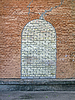 Abstrakcyjny kamień okno na mur ceglany, budowlana | Stock Foto