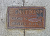 Photo 300 DPI: do not dump drains to chales river as text on vintage