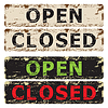 Vector clipart: Open and Closed sign.