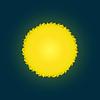 Ikona słońca. | Stock Vector Graphics