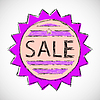Vector clipart: Label sale.